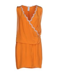 Uniqueness Dresses Short Dresses Women Orange