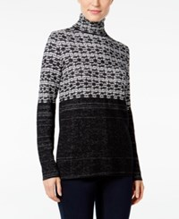 Styleandco. Style Co. Jacquard Turtleneck Sweater Only At Macy's Grey Combo