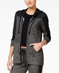 Material Girl Active Juniors' French Terry Colorblocked Hoodie Only At Macy's