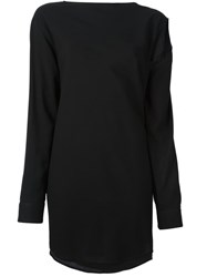 Maison Martin Margiela Mm6 Maison Margiela Cut Out Shoulder Tunic Black