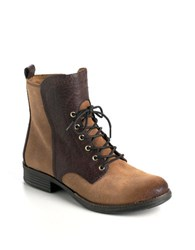 Naya Agave Leather Boots Brown