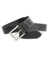 Wrangler Basic Worn Black Leather Belt