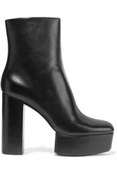 Alexander Wang Cora Leather Platform Ankle Boots Black