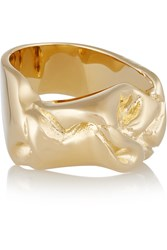 Jennifer Fisher Bow Gold Plated Ring Metallic