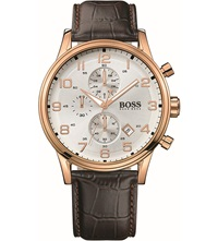 Hugo Boss 1512519 Rose Gold Plated Chronograph Watch Brown