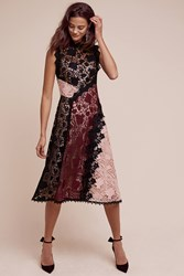 Anthropologie Opera Lace Dress Black