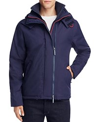 Superdry Pop Zip Hood Arctic Windcheater Jacket Nautical Navy Rebel Red