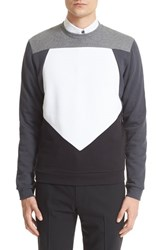 Men's Z Zegna Pieced Pentagon Colorblock Sweatshirt