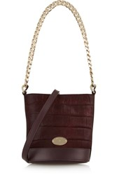 Mulberry Jamie Mini Croc Effect Calf Hair And Leather Bucket Bag Red