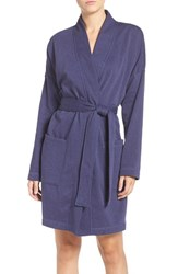 Uggr Women's Ugg 'Braelyn' Fleece Robe Dk Pajama Blu Heather