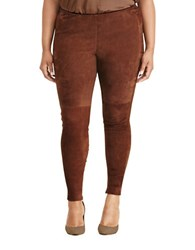 Lauren Ralph Lauren Plus Stretch Cotton Skinny Pants Chocolate