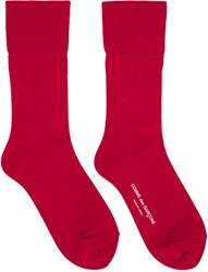 Comme Des Garcons Red Long Socks