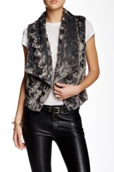 Love Token Jenny Faux Fur Vest Gray