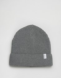 Selected Homme Beanie Rib Nathan Grey