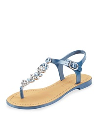 Ivanka Trump Areya Jeweled Jelly Sandal Blue