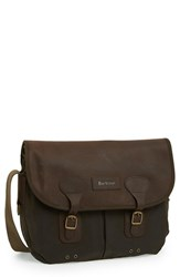 Barbour Men's Waxed Canvas Tarras Bag Green Olive