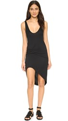 Riller And Fount Bianca Pinched Front Mini Dress Obsidian