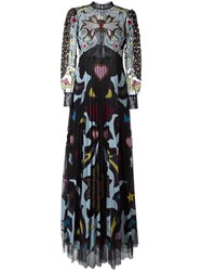 Mary Katrantzou Graphic Cowboy 'Sundance' Evening Dress Black