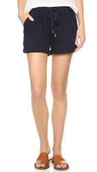 Three Dots Erna Rolled Shorts Night Iris