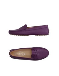 Tod's Footwear Moccasins Women Purple