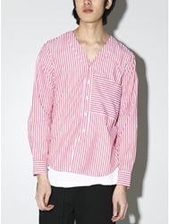 Harmon Varsity Shirt Crimson Stripe Oak