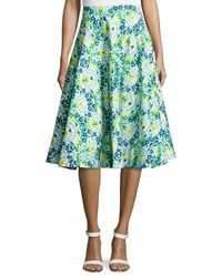 Plenty By Tracy Reese Floral Pique Circle Skirt Ocean Floor Pequena