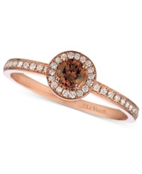 Le Vian Chocolate And White Diamond Circle 3 8 Ct. T.W. In 14K Rose Gold