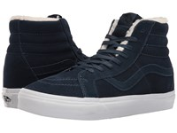 Vans Sk8 Hi Reissue Suede Fleece Dress Blues True White Skate Shoes