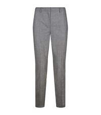 Fabiana Filippi Chain Seam Tweed Trousers Female Dark Grey