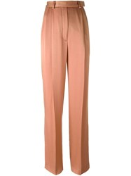 Lanvin High Rise Wide Trousers Pink And Purple