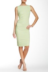J.Mclaughlin Sleeveless Sage Rouched Dress Multi