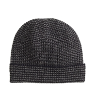 J.Crew Lambswool Marled Glen Plaid Hat Marled Ebony