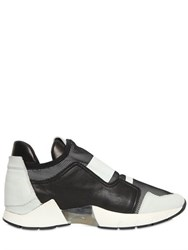 Cinzia Araia 20Mm Mesh And Leather Running Sneakers