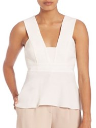 A.L.C. Leigh Peplum Top White Black