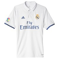 Adidas 2016 17 Real Madrid Home Football Jersey White Purple
