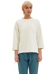 Marni Oversized Asymmetric Draped Sweater White