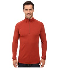 Smartwool Nts Mid 250 Zip T Top Moab Rust Heather Men's Long Sleeve Pullover Red