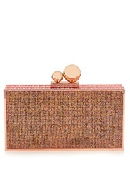 Sophia Webster Clara Crystal Embellished Box Clutch Pink Multi