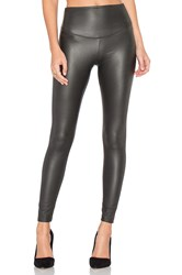 Yummie Tummie Tony Faux Leather Legging Charcoal