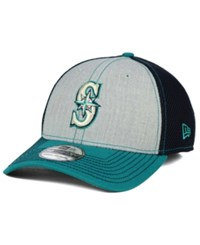 New Era Seattle Mariners Heathered Neo 39Thirty Cap Teal Gray Navy