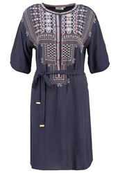 Noa Noa Summer Dress Blue Nights Dark Blue Denim