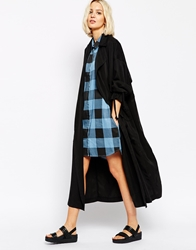 Cheap Monday Relaxed Trench Coat Black