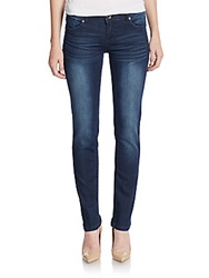 Grace In La Rhinestone Detailed Skinny Jeans Medium Blue