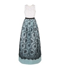 Andrew Gn Sleeveless Lace Ball Gown Female Multi