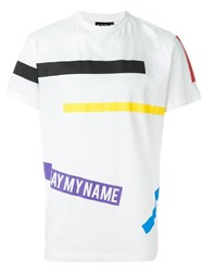 Ejxiii 'Say My Name' Printed T Shirt White