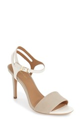 Calvin Klein Women's 'Nadina' Ankle Strap Sandal Cocoon Soft White Leather