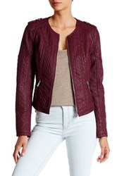 Bnci By Blanc Noir Textured Faux Leather Jacket