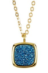Sonya Renee 10Mm Cushion Droplet Necklace Blue
