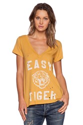 Rebel Yell Easy Tiger Tee Yellow