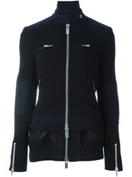 Sacai Layered Ribbed Jacket Black